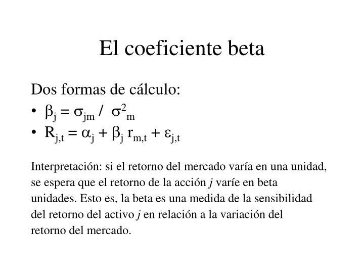 El coeficiente beta