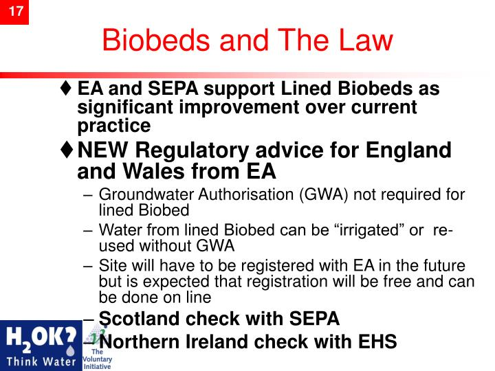 Biobeds and The Law