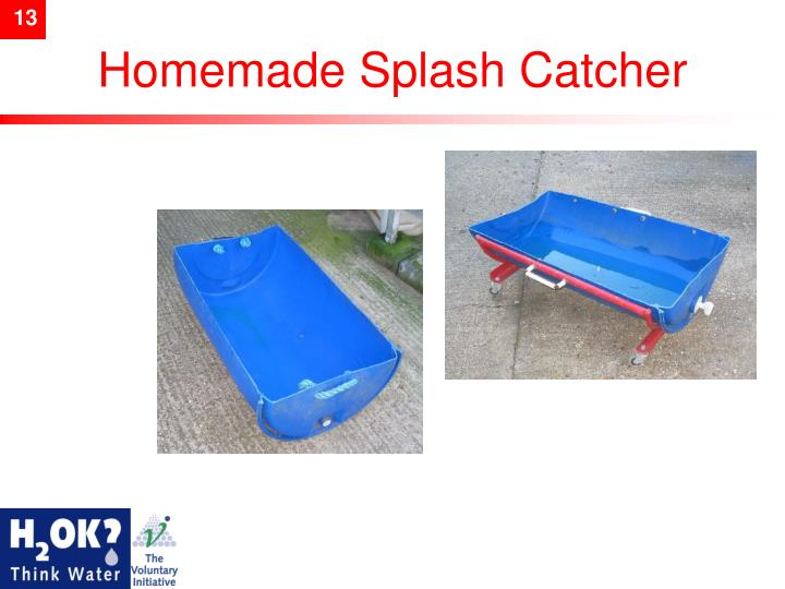 Homemade Splash Catcher