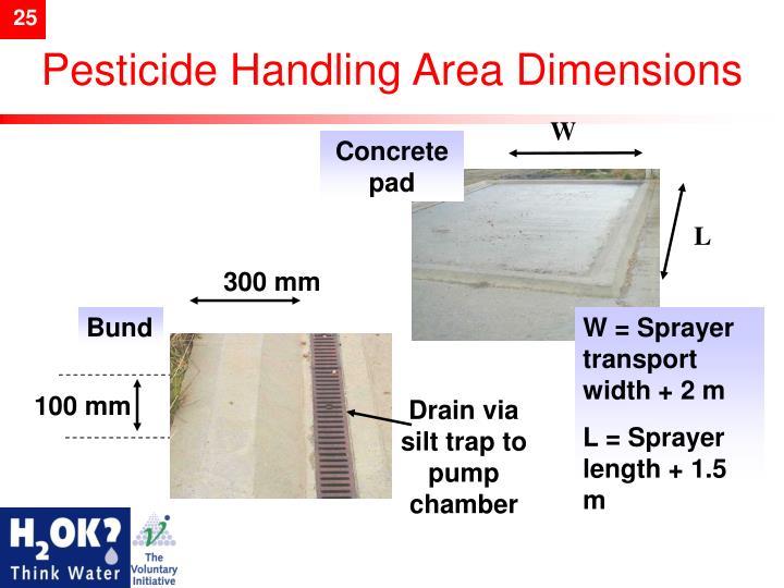 Pesticide Handling Area
