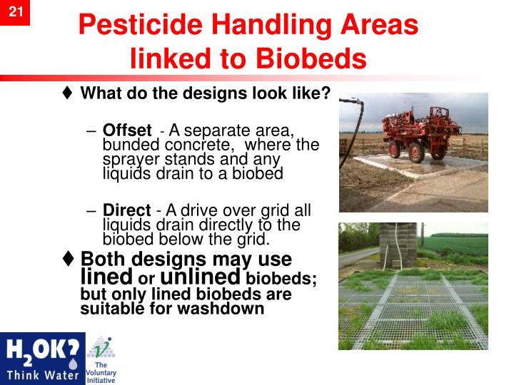 Pesticide Handling Areas linked to Biobeds