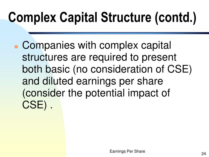 Complex Capital Structure (contd.)