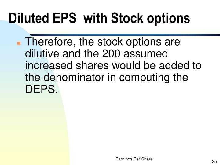 Diluted EPS  with Stock options