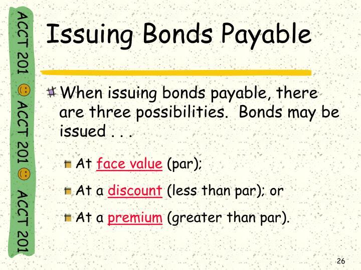 Issuing Bonds Payable