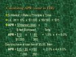 calculating apr same as eir
