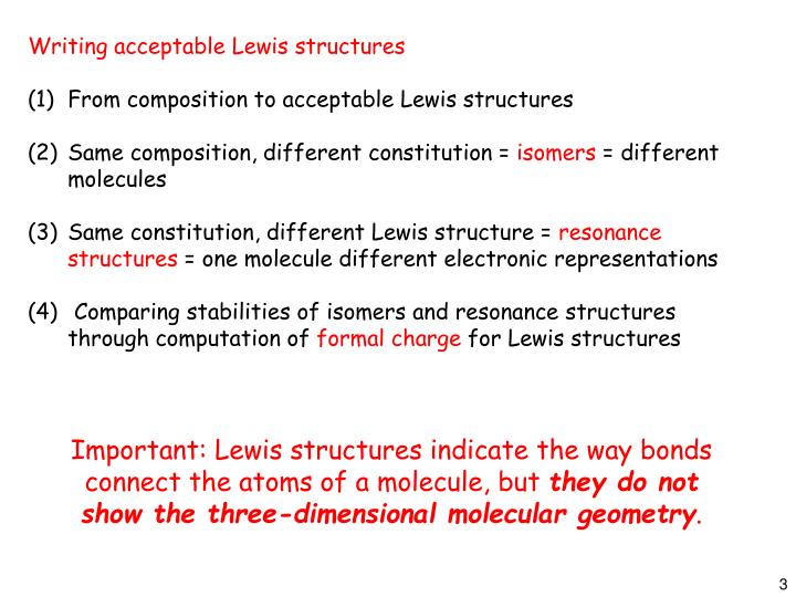 Writing acceptable Lewis structures