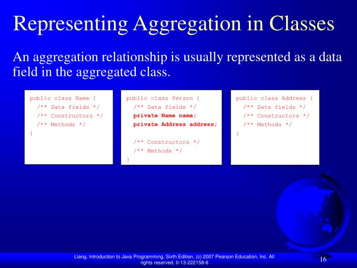 Representing Aggregation in Classes