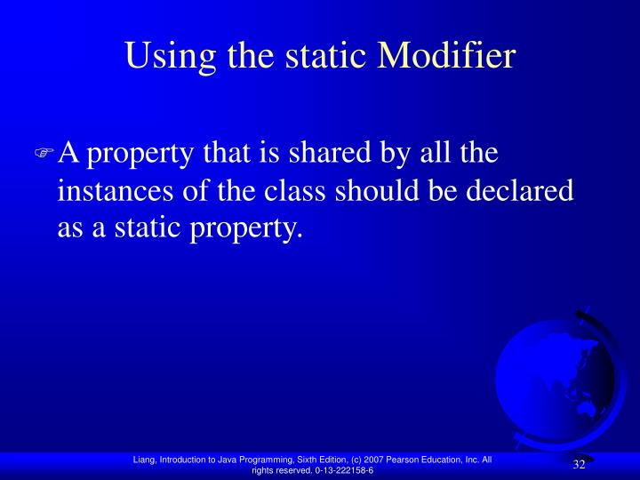 Using the static Modifier