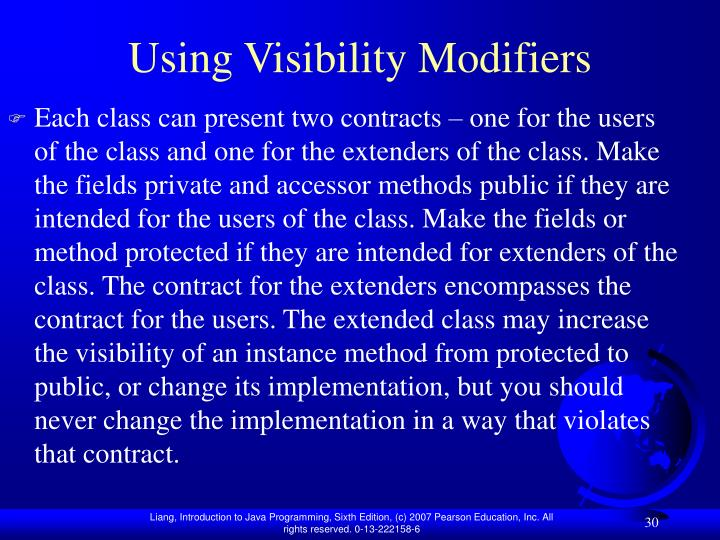 Using Visibility Modifiers