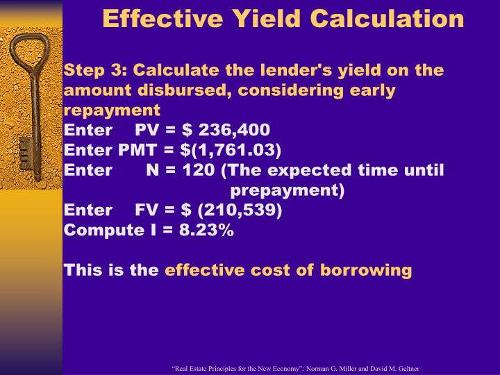 Effective Yield Calculation