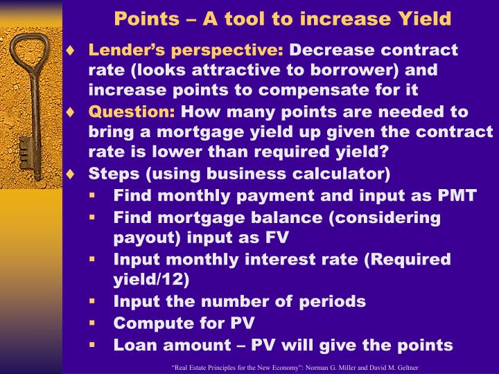 Points – A tool to increase Yield