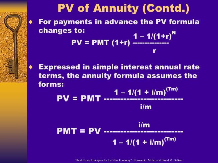 PV of Annuity (Contd.)