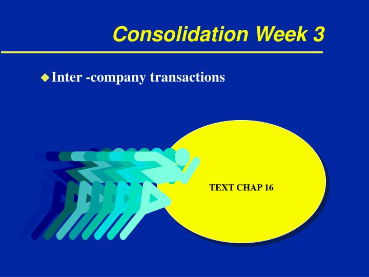 Consolidation week 3