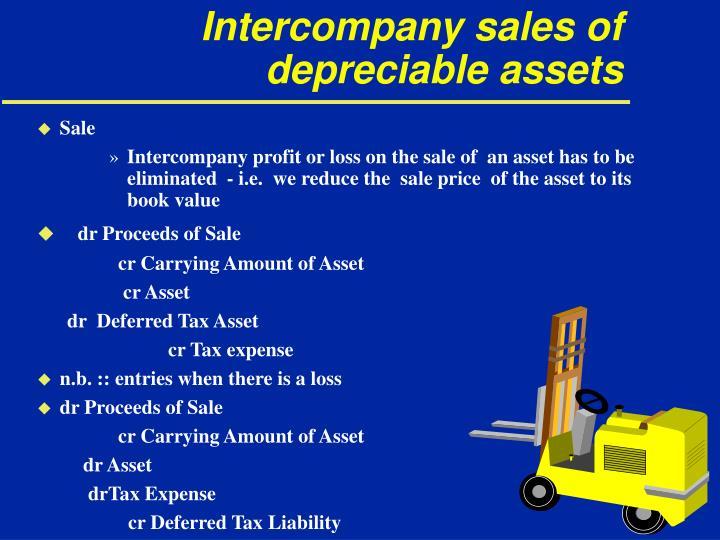 Intercompany sales of depreciable assets