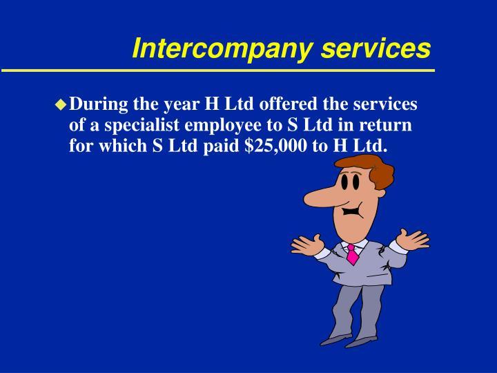 Intercompany services