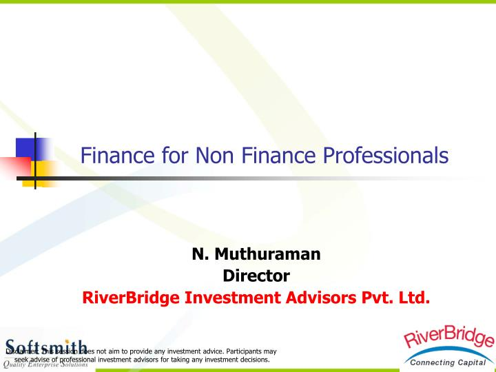 finance for non finance professionals n.