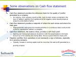 some observations on cash flow statement