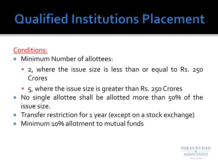 Qualified Institutions Placement