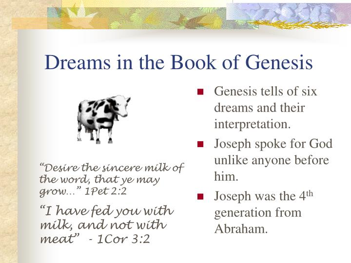 PPT - Dreams in the Book of Genesis PowerPoint Presentation