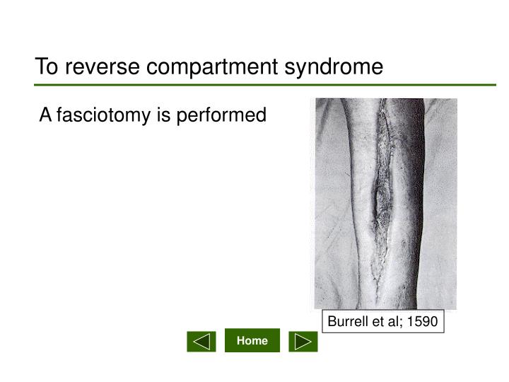 To reverse compartment syndrome