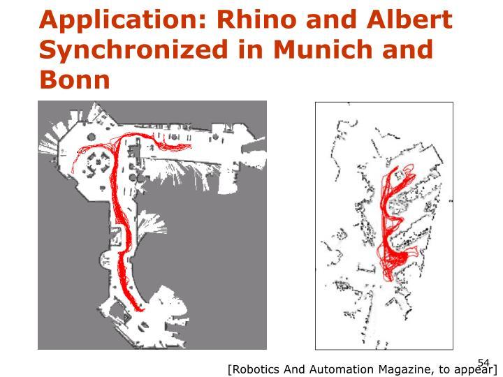 Application: Rhino and Albert Synchronized in Munich and Bonn