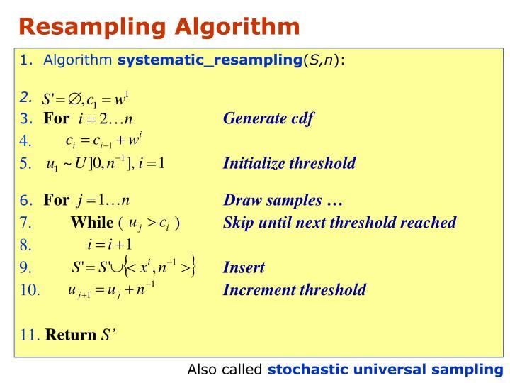 Resampling Algorithm