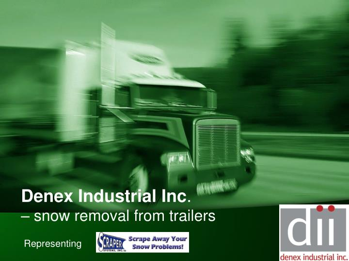 denex industrial inc snow removal from trailers n.