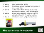 five easy steps for operation
