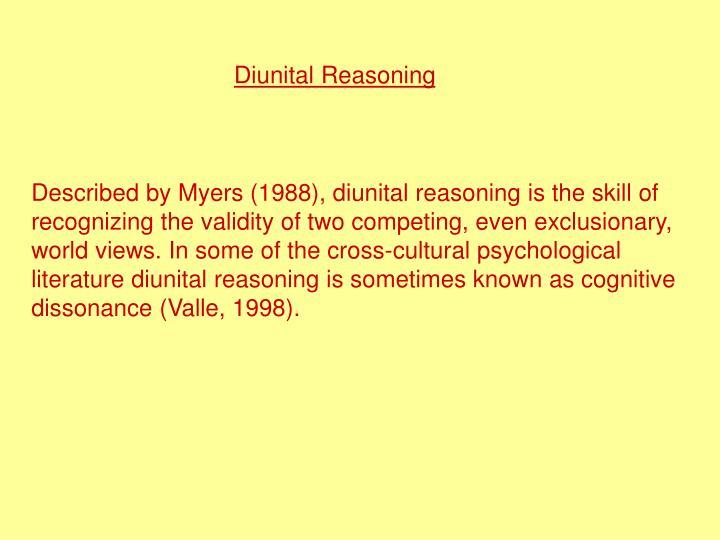 Diunital Reasoning