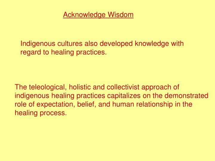 Acknowledge Wisdom
