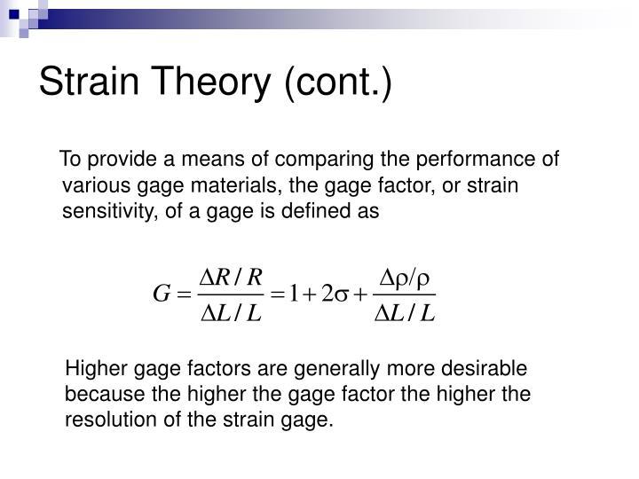 define strain theory