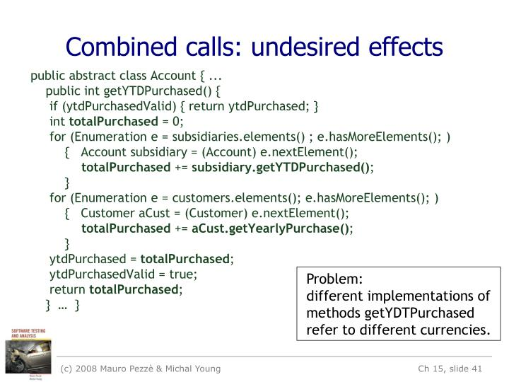Combined calls: undesired effects