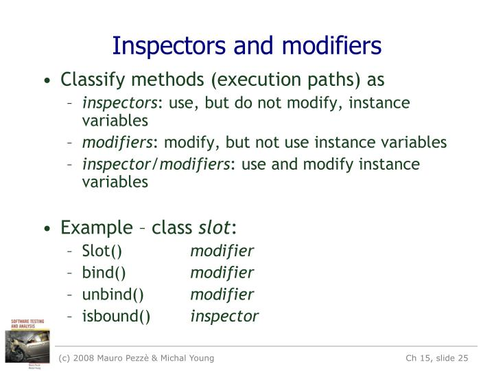 Inspectors and modifiers