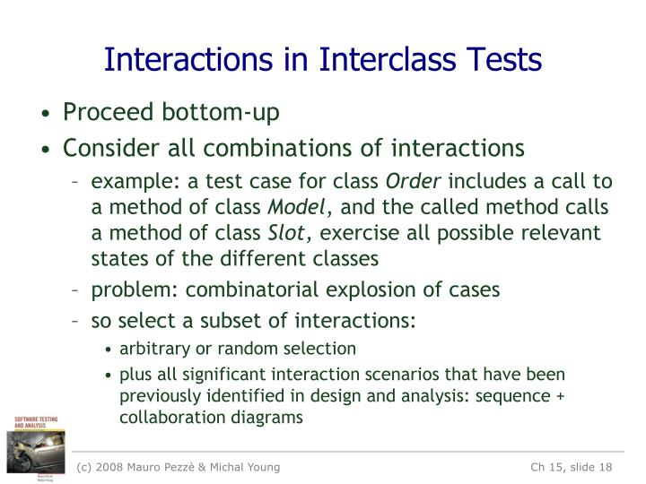 Interactions in Interclass Tests