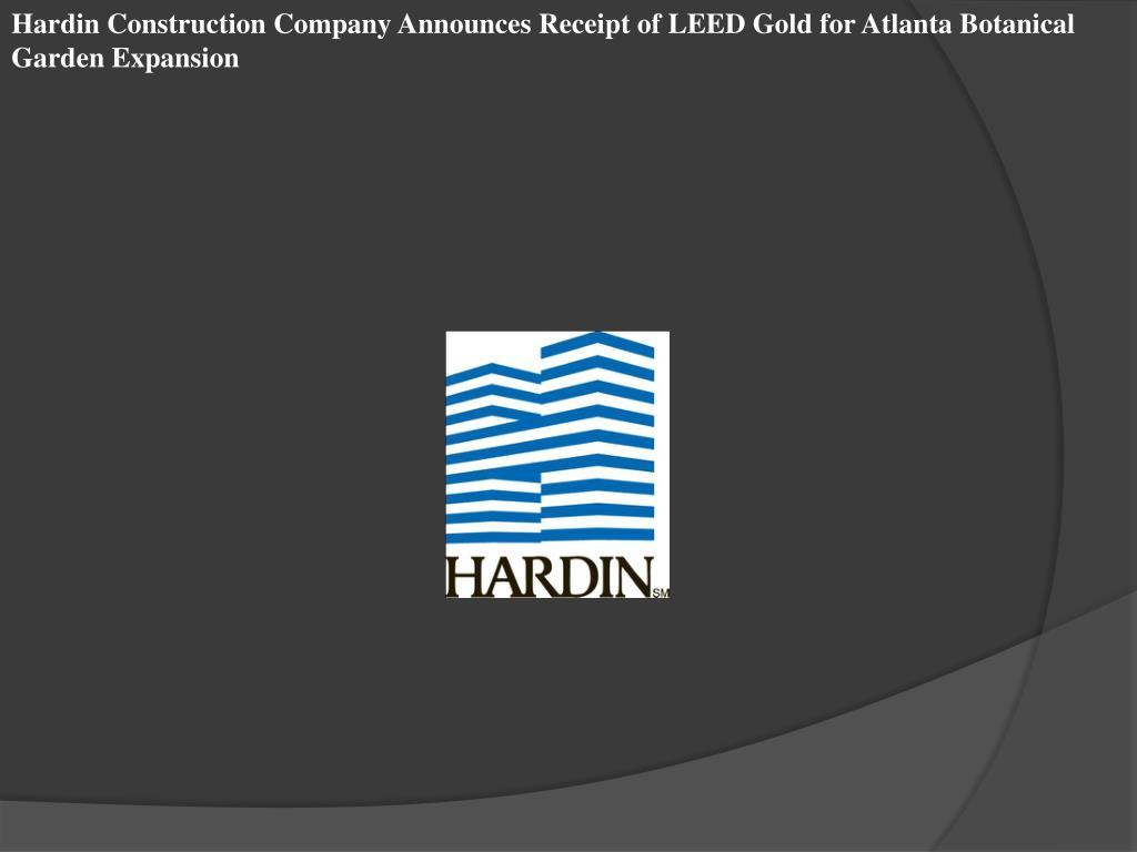 Hardin Construction Company Announces Receipt of LEED Gold for Atlanta Botanical Garden Expansion