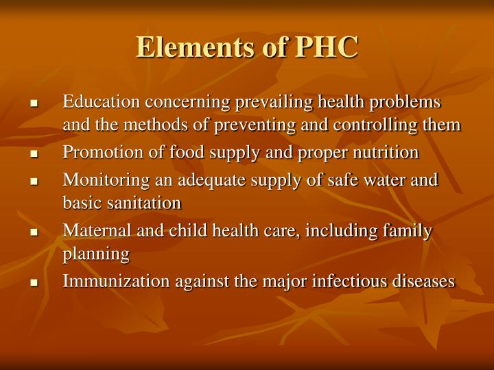 Elements of phc