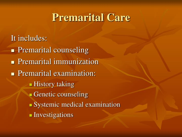 Premarital Care