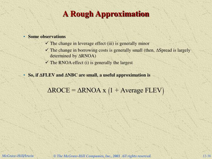 A Rough Approximation