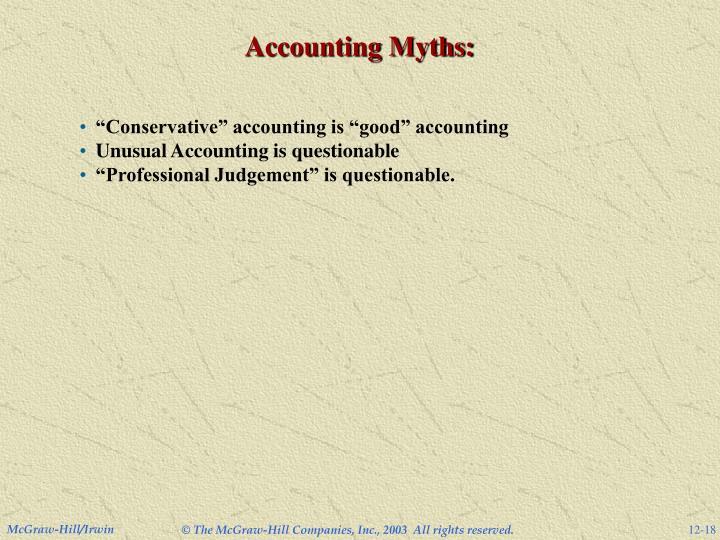 Accounting Myths: