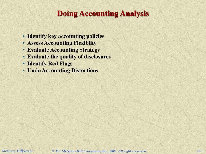 Doing Accounting Analysis