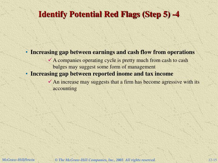 Identify Potential Red Flags (Step 5) -4