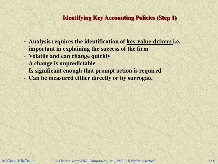 Identifying Key Accounting Policies (Step 1)