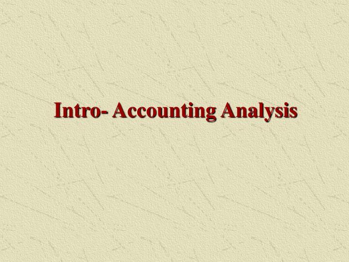 Intro accounting analysis1