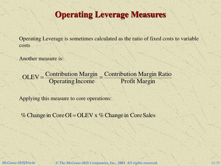 Operating Leverage Measures