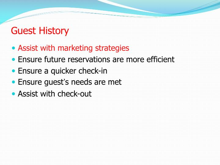 Guest History