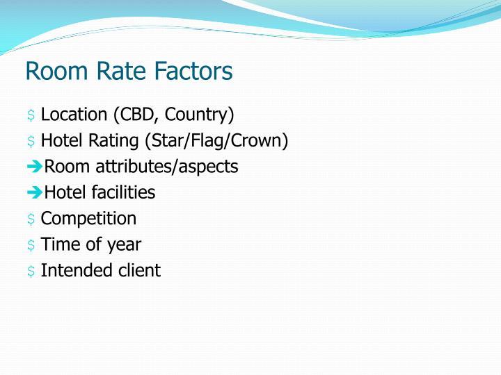 Room Rate Factors