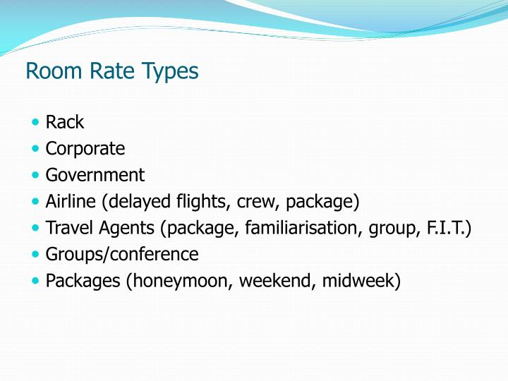 Room Rate Types