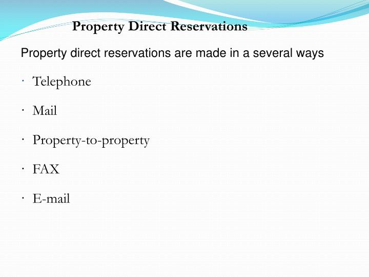 Property Direct Reservations