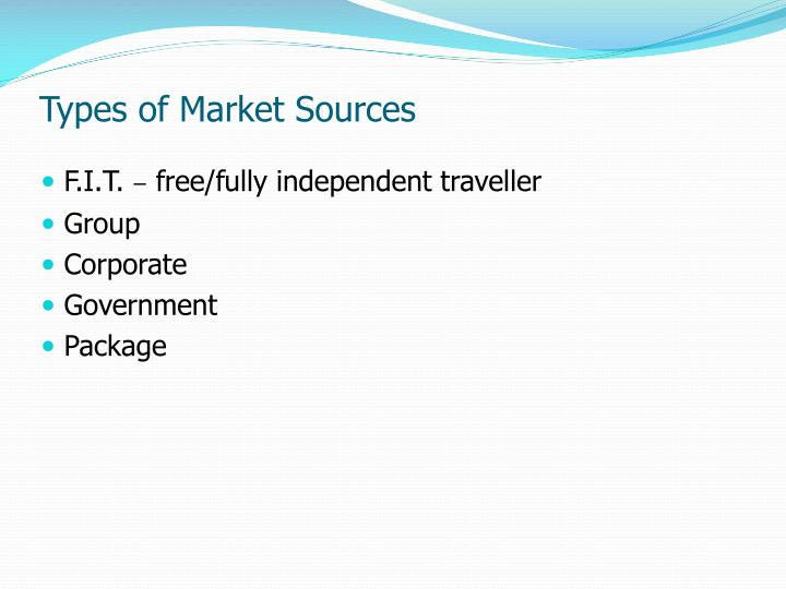 Types of Market Sources