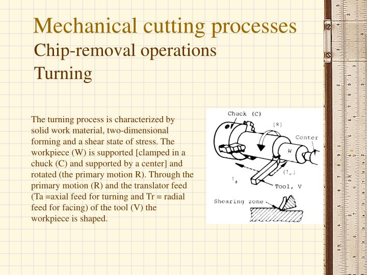 Mechanical cutting processes